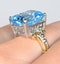 Blue Topaz 9.35CT 9K Yellow Gold Ring - image 4