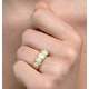 Opal 1.29CT 9K Yellow Gold Ring - image 2