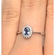 Sapphire 6 x 4mm And Diamond 9K White Gold Ring  A3906 - image 4