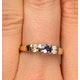 Tanzanite 3.75mm And Diamond 9K Gold Ring - image 4