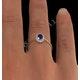 Tanzanite 6 x 4mm And Diamond 9K Gold Ring - image 4