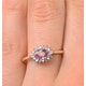 9K Gold Diamond and Pink Sapphire Ring 0.14ct - image 3