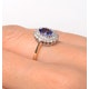 Tanzanite 7 x 5mm And Diamond 9K Gold Ring - image 4