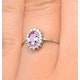 9K White Gold Diamond and Pink Sapphire Ring 0.08ct - image 4