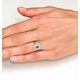 Emerald 6 x 4mm And Diamond 9K White Gold Ring  A4439 - image 4