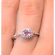 9K White Gold Diamond and Pink Sapphire Ring 0.18ct - image 3