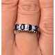 Sapphire 5 x 3mm And Diamond 9K White Gold Ring  A4452 - image 4