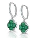 Emerald 2.05ct And Diamond 18K White Gold Alegria Earrings - image 2