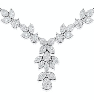 Diamond Necklace - Pyrus - 8.5ct of H/Si Diamonds in 18K White Gold