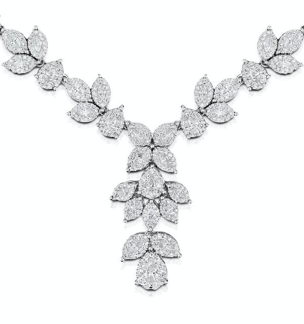 Diamond Necklace - Pyrus - 8.5ct of H/Si Diamonds in 18K White Gold - image 1