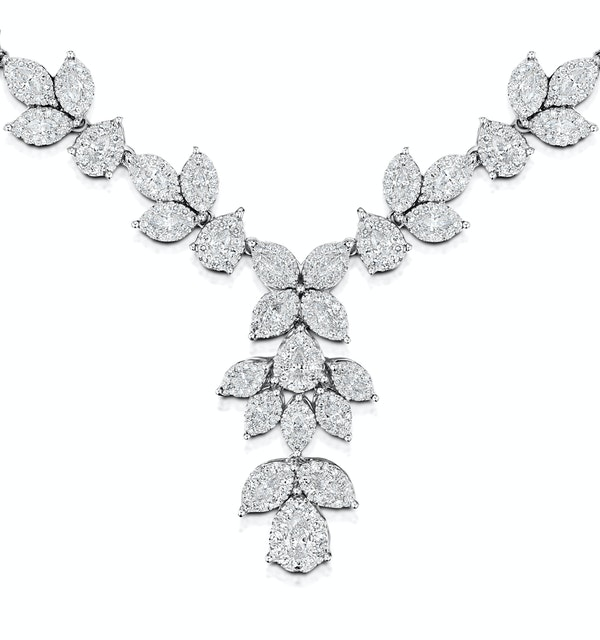 Diamond Necklace - Pyrus - 8.5ct of H/Si Diamonds in 18K White Gold - image 1