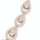 Diamond Necklace Pyrus Chandelier 12.60ct H/Si Diamonds 18K Rose Gold - image 3