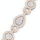 Diamond Necklace Pyrus Halo 11.00ct in 18K Rose Gold - image 3