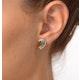 Emerald 4 x 3mm And Diamond 9K Yellow Gold Earrings - image 3