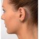 Emerald 4 x 3mm And Diamond 9K Yellow Gold Earrings - image 4