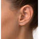 Diamond Earrings 0.10CT Studs Diamond 9K Gold - image 4