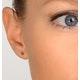 Emerald 3 x 3mm 9K Yellow Gold Earrings - image 4