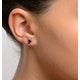 Sapphire 5mm x 4mm 9K White Gold Earrings - image 2