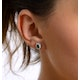 Emerald 5 x 3mm And Diamond 9K White Gold Earrings - image 2