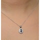 Sapphire 6 x 4 mm And Diamond 9K White Gold Pendant - image 3