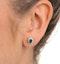 Emerald 6 x 4mm And Diamond 9K Yellow Gold Earrings - image 4