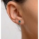 Emerald 0.30CT 9K Yellow Gold Earrings - image 3