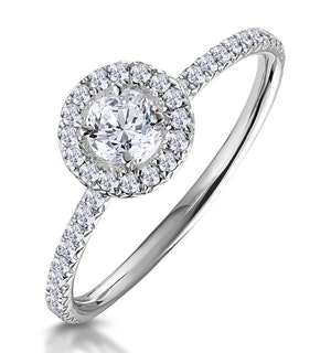 Ella Halo Diamond Engagement Ring 0.50ct set in 9K White Gold
