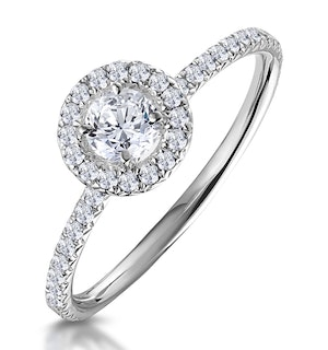 Ella Halo Diamond Engagement Ring 0.53ct set in 9K White Gold