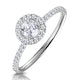 Ella Halo Lab Diamond Engagement Ring 0.55ct in 9K White Gold - image 1