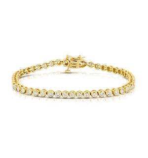 2ct Premium Diamond Tennis Bracelet in 18K Gold
