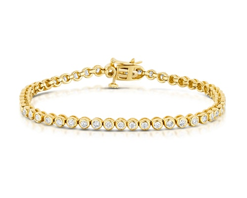 Rubover Set Diamond Bracelet