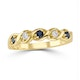 Sapphire 2.25 x 2.25mm And Diamond 18K Gold Ring - image 2