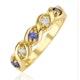 Tanzanite 2.25 x 2.25mm And Diamond 9K Gold Ring - image 1