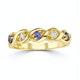 Tanzanite 2.25 x 2.25mm And Diamond 9K Gold Ring - image 2