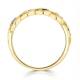 Tanzanite 2.25 x 2.25mm And Diamond 9K Gold Ring - image 3