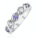 Tanzanite 2.25 x 2.25mm And Diamond 9K White Gold Ring - image 1