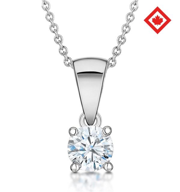 Chloe Platinum Canadian Diamond Solitaire Necklace 0.30CT H/SI2 - image 1