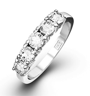 Chloe Platinum 5 Stone Diamond Eternity Ring 1.50CT G/VS