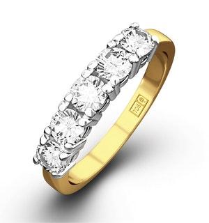 Chloe 18K Gold 5 Stone Diamond Eternity Ring 1.00CT H/SI