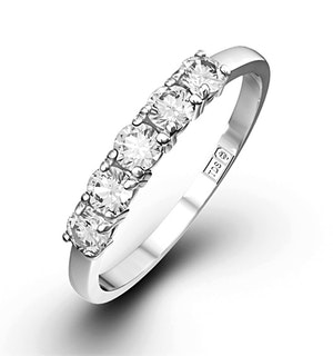 Chloe Platinum 5 Stone Diamond Eternity Ring 0.50CT H/SI
