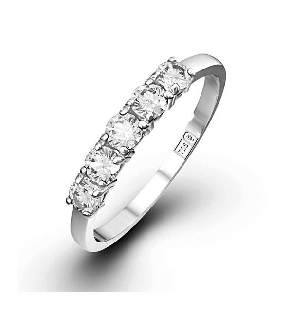 Chloe Platinum 5 Stone Diamond Eternity Ring 0.50CT G/VS - image 1