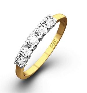 Chloe 18K Gold 5 Stone Diamond Eternity Ring 0.50CT H/SI