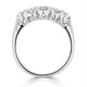 Grace 18K White Gold 5 Stone Diamond Eternity Ring 0.75CT G/VS - image 3