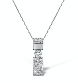 Diamond 0.24ct 9K White Gold Pendant - RTC-G3675