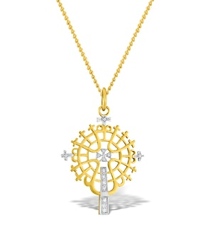 Diamond 0.07ct and 9K Gold Pendant - RTC-G3613