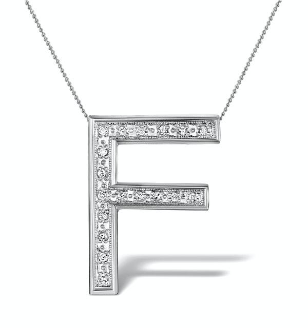 Diamond 0.12ct 9K White Gold Large Initial - RTC-G3803 - image 1