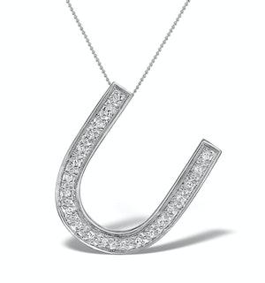 Diamond 0.15ct 9K White Gold Large Initial - RTC-G3817