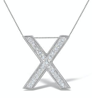 Diamond 0.17ct 9K White Gold Large Initial - RTC-G3923