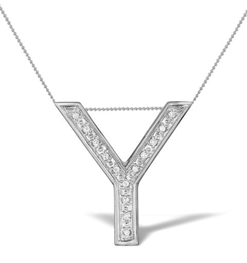 Diamond 0.10ct 9K White Gold Large Initial - RTC-G3925 - image 1