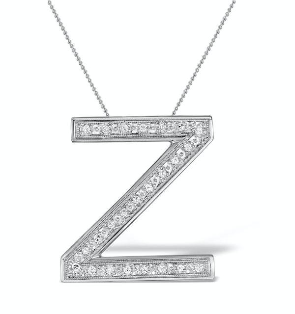 Diamond 0.15ct 9K White Gold Large Initial - RTC-G3927 - image 1